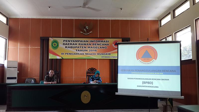 Kegiatan Sosialisasi Penyampaian Informasi Daerah Rawan Bencana Kabupaten Magelang