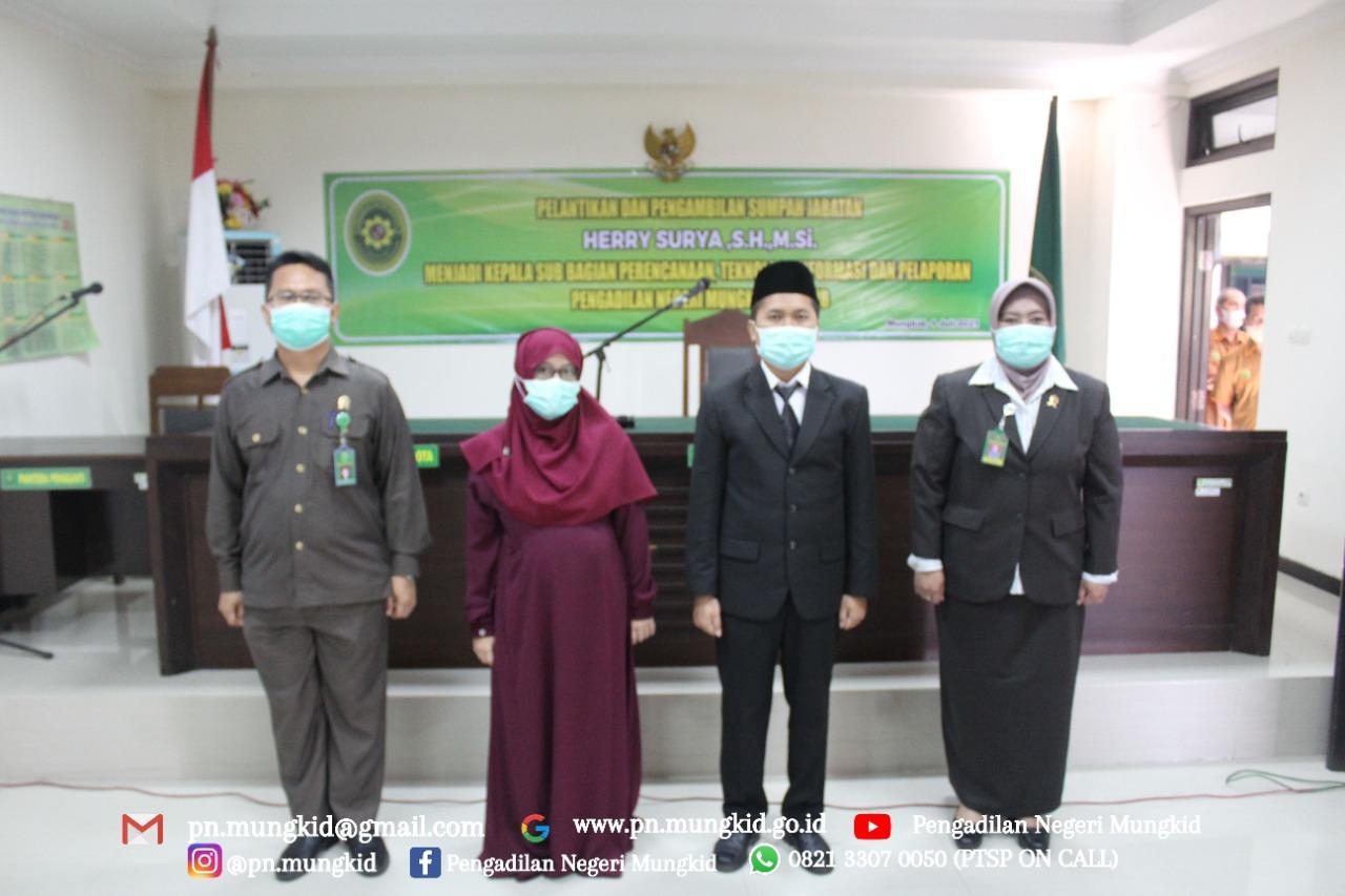 Pelantikan Kasub PTIP Pengadilan Negeri Mungkid
