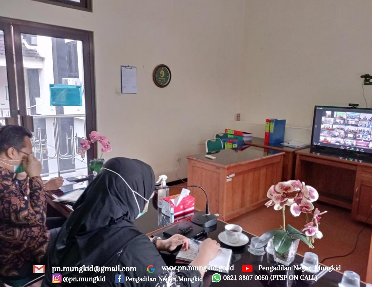 Zoom Meeting Undangan Pembinaan dan Persiapan Surveilance Pengadilan Tinggi Jawa Tengah